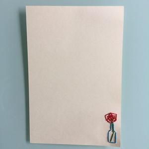 刺繍ポストカード(一輪挿し)
