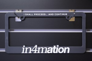 in4mation(4colors) Licence plate frames