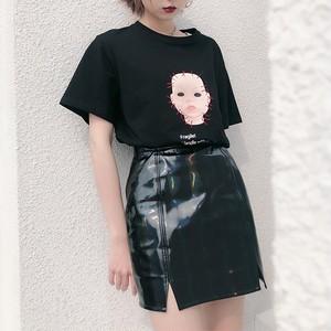 光沢フェイクレザースカート / HWG169