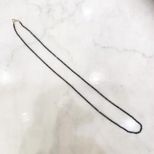 ヘマタイトのシンプルな60cmネックレス(K10金具)