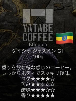 Ethiopia ゲイシャJasmine G1  100g