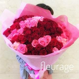 プロポーズ108本のバラの花束 結婚/プロポーズ/お祝