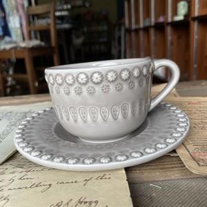 Tea cup&saucerl【Oatmeal】/BORDALLO PINHEIRO