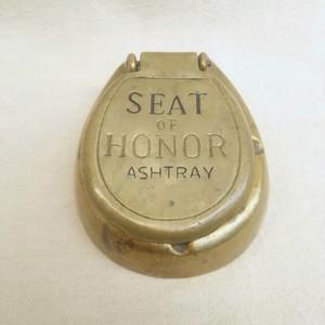 真鍮の古い灰皿/ビンテージ/ヴィンテージ/アンティーク/SEAT OF HONOR/便器型/便座型/灰皿/