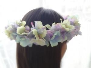 アーティフィシャルフラワー:アジサイの花かんむり
