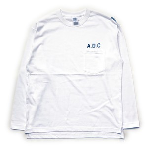 slogan long sleeve tee white