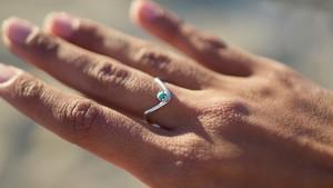 V Turquoise Ring