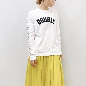 DOUBLE STANDARD CLOTHING(ダブルスタンダードクロージング) オリジナルサガラ刺繍ロゴロンT 2021秋冬物新作[送料無料]