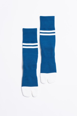 '90s Line Socks(Sea Blue × White)