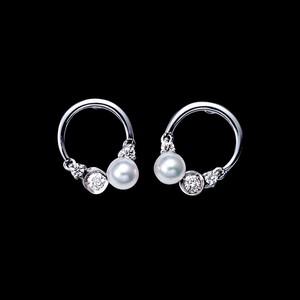jewelG <Chic>  ピアス K18/ダイヤモンド/あこやパール