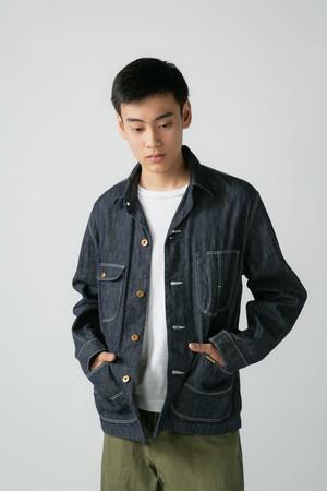 【No. BS602 Color. 08 Indigo One Wash】 Mens Selvage Work Jacket