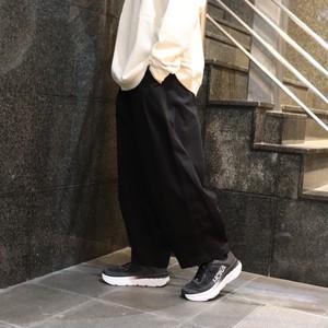 【HARVESTY】CHINO CIRCUS PANTS (BLACK) (UNISEX) サーカスパンツ ハーベスティ 日本製 ユニセックス