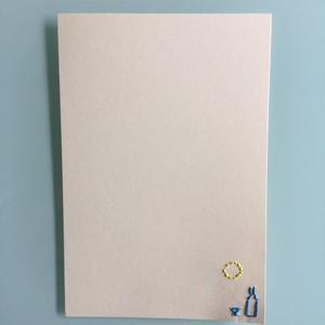 刺繍ポストカード(月見酒)
