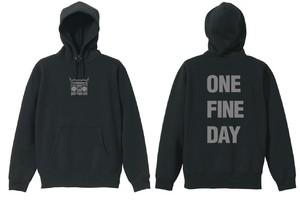 受注生産【ONE FINE  DAY】レーベルロゴパーカー(ブラック)