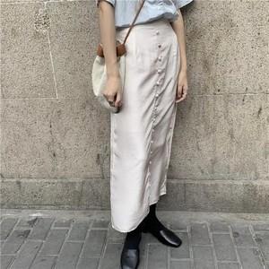 サテンロングスカート U3015