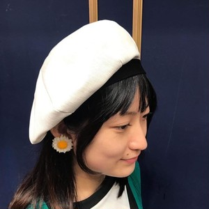 8 PANEL BERET CAP  OFF WHITE