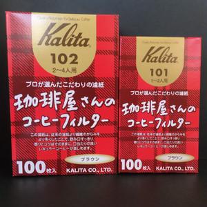 Kalita 珈琲屋さんのコーヒーフィルター みさらし濾紙102 100枚