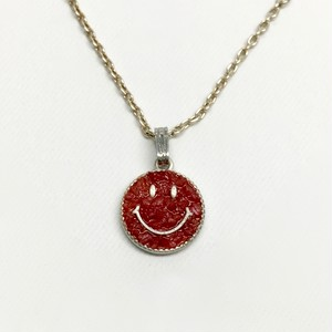 amp japan/Crushed Stone Smile Top with Dichromatic Chain -Coral-