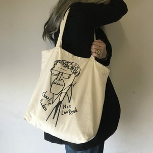CHARLIE HADEN NOT LOU REED tote bag