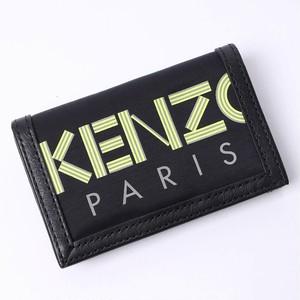 ケンゾー (KENZO) GOTCHA WALLET 折りたたみ財布 コンパクト財布 ミニ財布 コインケース 小銭入れ ロゴ カードケース ブラック×イエロー ユニセックス 5PM210 F38 99 [全国送料無料] r013708