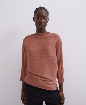 PLEATED TOP WITH SLEEVE [220141766111]