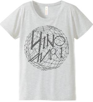 日の毬 Tシャツ Lホワイトグレー