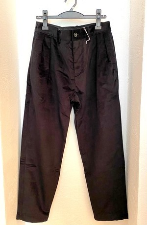 Stretch Shadow Check Tapered Pants Black