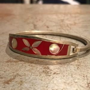 """vintage silver925 """"flower"""" motif bangle"""