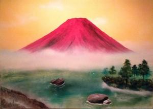 『赤富士』いつもと違う顔を見るとより一層惹かれるのは人と同じ…。