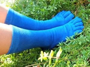 藍染 レディーススネ丈靴下