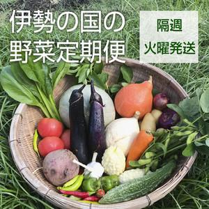 【定期便:隔週・火曜便】伊勢の国の野菜定期便セット(8~14品目)