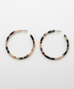 Tortoiseshell Design Hoop Pierce