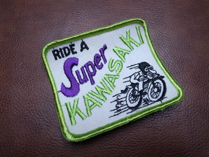 RIDE A SUPER KAWASAKI Vintage Patch