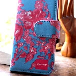 北欧デザイン pinkindia iPhoneケース手帳型