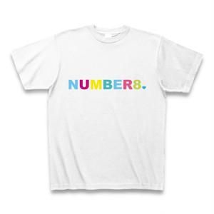 Number8(ナンバーエイト) レインボーロゴスモールダイヤモンドTシャツ(レインボーバージョン)