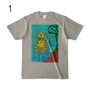 【グッズ】送料込[色:全11色]「だべイカ」Tシャツ