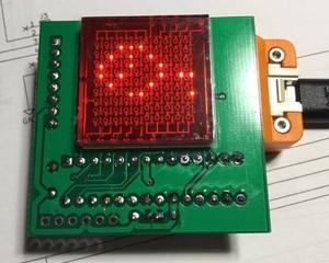 マトリクスLEDスクロール表示デバイス  (M5StickC用)