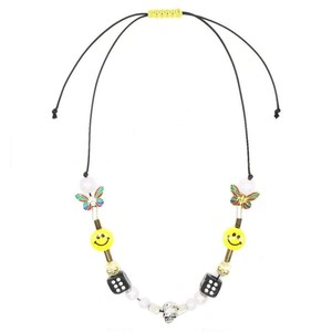 *EVAE+MOB Smiley Necklace MULUTI COLOR