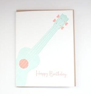 【Bradley & Lily】グリーティングカード Ukulele Birthday
