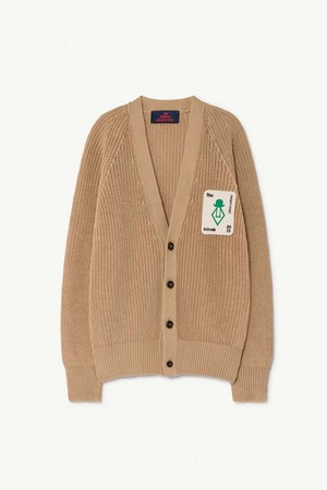 TAO PLAIN RACOON KIDS CARDIGAN deep brown