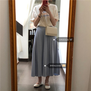 【ボトムス】女性らしい印象優しい雰囲気エレガントプリーツスカート20055489