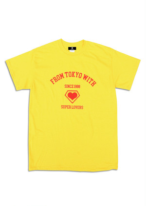 COLLEGE LOGO T-SHIRT YELLOW.