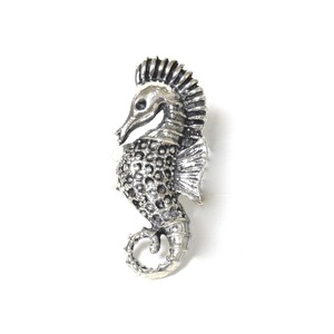 Vintage Sterling Silver Mexican Seahorse Ring