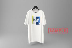"""海月ナギ描き下ろしデザイン""""gemi[2]"""" vket-limited Tシャツ(ホワイト)"""