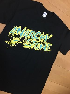 ロゴTシャツ 黒×黄色 緑