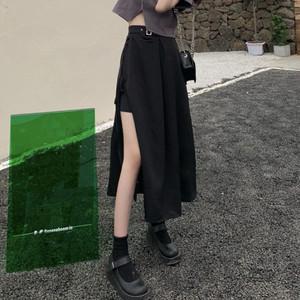 【ボトムス】ストリート系個性派スリットハイウエストセクシースカート43754489