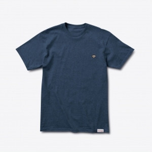 Diamond SUPPLY CO. PATCH TEE NAVY HEATHER