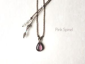 ピンクスピネル macrame necklace