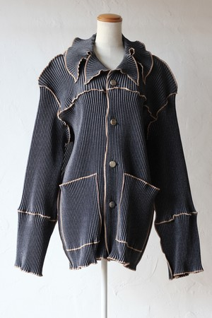 【kotohayokozawa】pleats coat-indigo