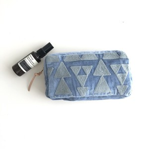 Embroidery Pouch/ BLUE